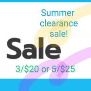 Sale ends 8/2. First come first serve.